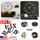 3D DIY Extra Large Frameless Wall Clock Modern Sticker Home Living Room Decor US