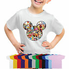 Mickey Mouse Head Silhouette Disney Characters Boys Girls T-Shirt-MMAC1