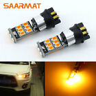 Pair PW24W 15-SMD Amber Turn Signal For Audi A4 Q3 For VW MK7 Golf For BMW F30