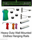 Shopfitting Home Storage Clothes Rails 25mm Tube Wall Fix Heavy Duty 1ft-10ft