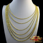 10K SOLID  YELLOW GOLD A+++ PREMIUM QUALITY ROPE CHAIN NECKLACE  2 MM 16~26 INCH