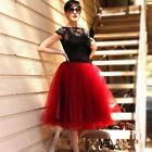 5 7 Layers Tutu Tulle Skirt Women Wedding Party Girls Princess Ballet Dress Prom