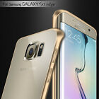 Aluminum Bumper Frame Clear Cover Case For Samsung Galax S6 S7 Edge Iphone