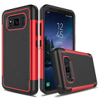 For Samsung Galaxy S8 Active Case Hybrid Rugged Matte Armor Impact Phone Cover