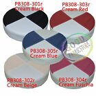 Pb Mixed 2 Color Round Faux Soft Leather 3D Thick Seat Cushion Cover Custom Size