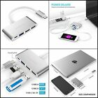 LENTION USB 4in1 Mac Book Pro Multi-Port Charging & Connecting Adapter Silver