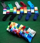 Trendy Men Gradient Color Paragraph Socks Cotton Wedding Sock Long Sports Socks