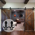 4FT-20FT Sliding Barn Door Hardware Closet Tauren Kit for One/Two/Bypass Doors