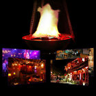 Durable LED Hanging Fake Flame Lamp Torch Light Fire Bowl Halloween Prop Decor