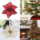 glitter christmas tree - 10pcs Artificial Glitter Flower Christmas Tree Ornament Xmas Party Crafts Supply