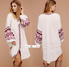 FREE PEOPLE  XSMALL  In The Clear Embroidered Tunic New Tags tg