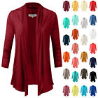 NE PEOPLE Womens Lightweight Flyaway Cardigan with Side Pockets S-3XL [NEWJ34-1]