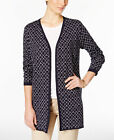 NWT Charter Club Iconic Print Long Sleeve Open Neckline Cardigan Reg $89.50