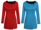 Star Trek TOS Nyota Uhura Classic Blue/Red Uniform Cosplay Halloween Party Gown on eBay