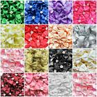 10 Quality Satin Ribbon Bow Ties Pearl Centre 3.5cm 15 Colours Crafts Sewing