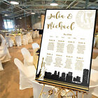 Personalised Wedding Table Seating Plan- NEW YORK - 4 SIZES