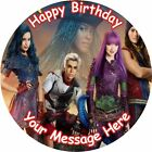 "DESCENDANTS 2 ROUND 7.5"" CAKE TOPPER ICING OR RICEPAPER"