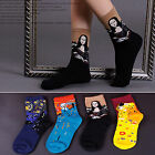 Halloween Famous Painting Art Women Girl Lady Crew Socks Novelty Funny Novelty