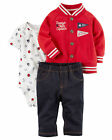 Carters Newborn 3 6 9 12 18 24 Months Sports Jacket Pants Set Baby Boy Clothes