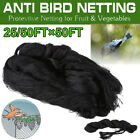 Anti Bird Netting Garden Poultry Aviary Game Net Nylon Screen 50'X25' 50X50'