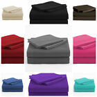 4 Piece Bed Sheet Set 1800 thread count 16''Deep Pocket For Oversized, King image