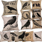 Happy Halloween Pillow Cases Crow Linen Car Sofa Cushion Cover Home Decor Gifts