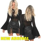 Sexy Women Lace Up Bodycon A-line Skirt Casual Party Club Short Mini Split Dress