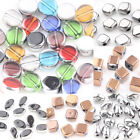 20Pcs Silver Gold Plated Crystal Glass Loose Spacer Bead Charm Carft Findings