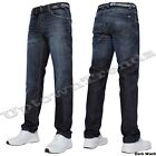 NEW MENS CROSSHATCH STRAIGHT LEG WAK DARK BLUE JEANS ALL WAIST SIZES 28 - 48