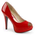 Red Peep Toe Drag Queen Mens Tranny High Heels Shoes in Womans sizes 13 14 15 16