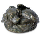 Angel Dog Bronze Finish Pet Cremation Urn