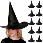 10Pcs / 1PC Adult Womens Black Witch Hat For Halloween Costume Accessory Cap New