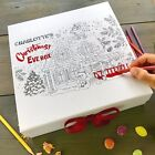 Personalised Christmas Eve Box Large Christmas Eve Box for Kids Colouring Gifts