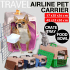 Travel Airline Pet Carrier Small Big Cat Dog Puppy Cage Portable Kennel Comfort