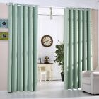 Mint Green Thermal Blackout Eyelet Curtains Heavy Fabric Ready Made Curtain Pair