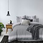 Grey Duvet Cover With Pillowcases Quilt Cover Bedding Set Single Double King