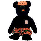 Ty Beanie Babies Scares - Bear BBOM October 2006
