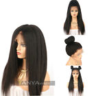 Lace Front Wig Kinky Straight Human Hair Coarse Yaki Lace Wig For Black Women