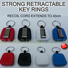New Recoil Retractable Key Ring safe Holder Big Strong Belt Clip Pull Chain UK