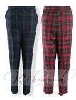 Ladies Womens Tartan Check Cigarette Trouser Tapered Pants Size 10 - 20