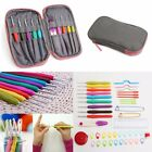 Crochet Hooks Set Knitting Needle Yarn Handle Organiser Case Kit Craft Tools