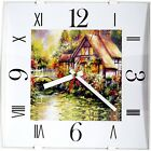 12-inch Contemporary Square Non-ticking Wall Clock Convex Glass Lens Home Decor
