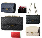 Diamond Embossed Satchel Handbag Cross Quilted Shoulder Bag Back Pocket Purse 01