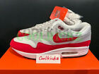 SHIP NOW Nike Air Max 1 OG 30th Anniversary 8-13 White University Red 908375-103