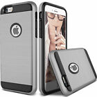 Brushed Armor Case For iPhone Hybrid Hard Plastic+Soft TPU Shockproof Cover