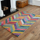 NEW WAVE CLEARANCE RUGS YELLOW ORANGE GREY BLUE MULTI COLOUR 120x170cm LARGE RUG