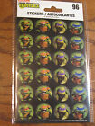 Teenage Mutant NinjaTurtles Stickers - 4 sheets w/ 96 total stickers