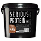 Serious Whey Protein Powder & Casein Blend 4kg Lean Muscle Complex Amazing Value