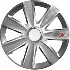 """4X 14"""" INCH GTX CARBON WHEEL TRIMS COVER HUB CAPS FOR LAND ROVER DEFEDNER 130"""