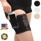Women Concealed Lace Non-slip Thigh Band Garter Purse Phone Security Pockets